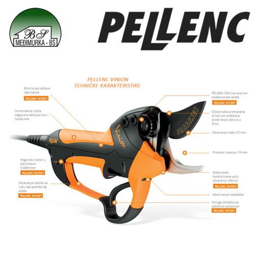 Akumulatorske električne škare za rezidbu Pellenc Vinion 150 karakteristike