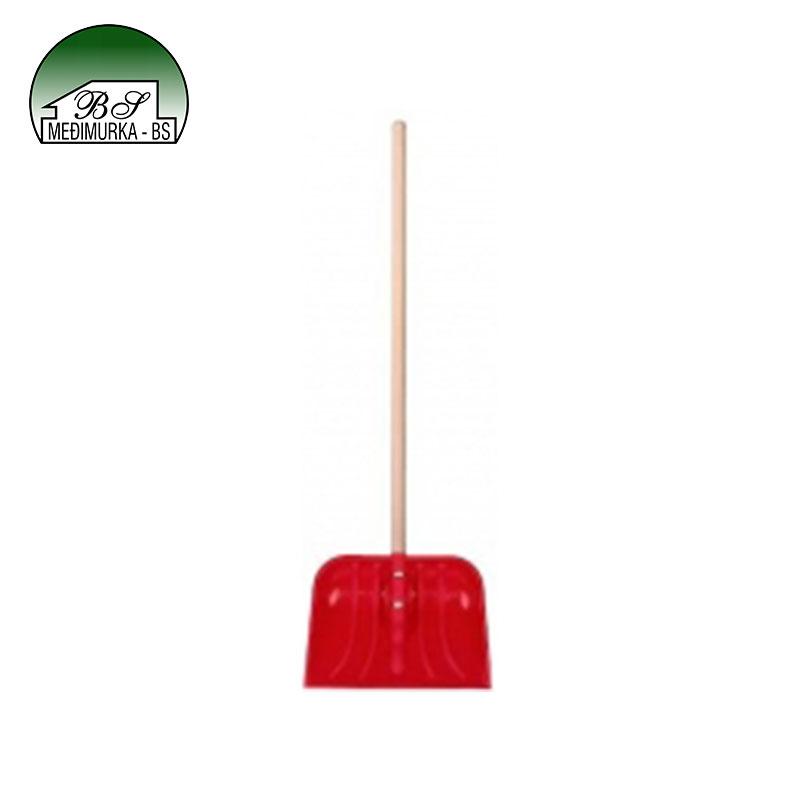 Lopata za snijeg crvena 42 cm nasađena