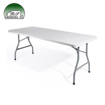Sklopiv pravokutni stol bijeli