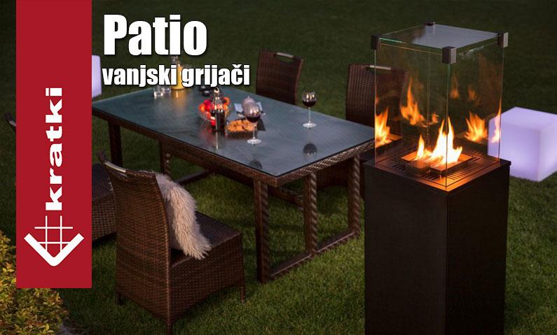 Patio Kratki plinski grijači za terase i vrt