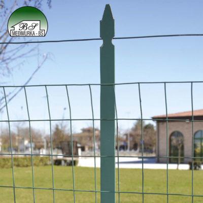 Plastificirani metalni stup za ograde