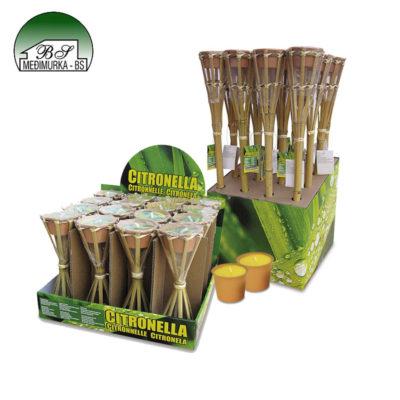 Vrtne bambus baklje sa svijećicom