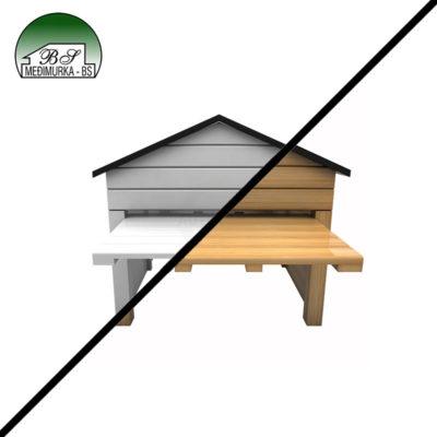 Drvena kućica za robotske kosilice